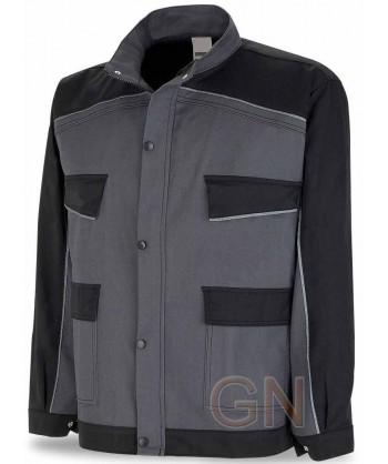 Cazadora bicolor de moderno diseño gris/negro