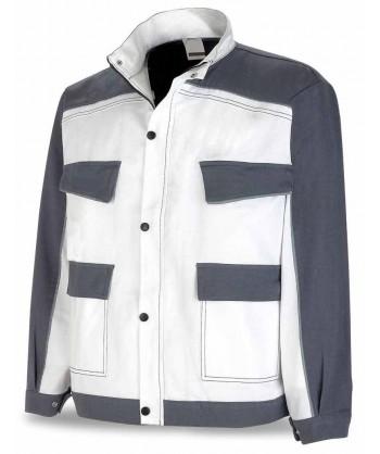 Cazadora bicolor de moderno diseño blanco/gris