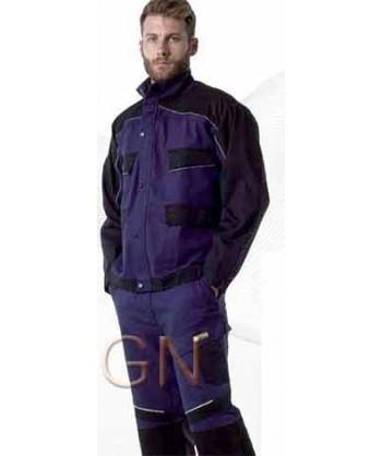 Cazadora bicolor de moderno diseño azulina/negro