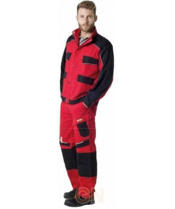 Cazadora bicolor de moderno diseño roja/negr
