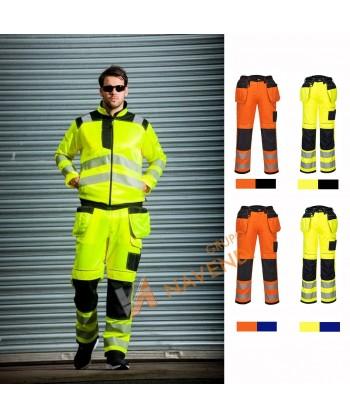 Pantalón bicolor triples costuras y refuerzos en rodillas
