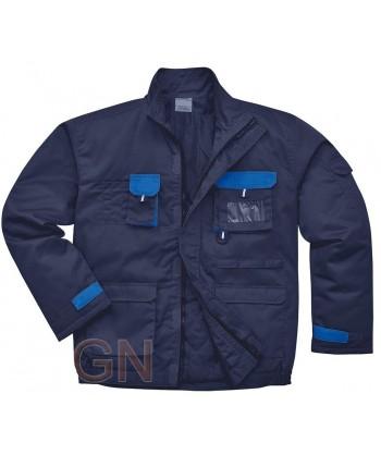 Cazadora forrada y acolchada para el frio negra/azulina