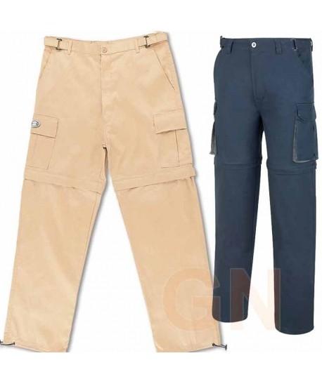 Pantalón de algodón multibolsillos desmontable