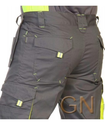 Pantalones multibolsillos combinados parte posterior
