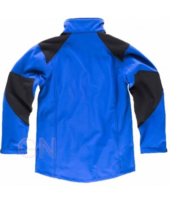 Cazadora softshell con membrana triple capa azulina/negro