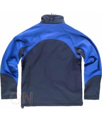 Chaqueta con tejido Softshell de triple capa marino/azulina