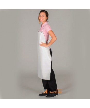 Delantal largo de PVC sin bolsillo para cocina