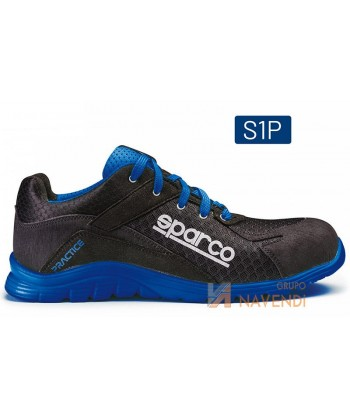 Zapato S1P modelo Practice de Sparco Negro/azul