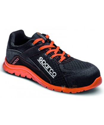 Zapato S1P modelo Practice de Sparco Negro/rojo