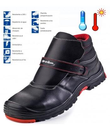Bota de seguridad especial suelos fríos o calientes con suela de nitrilo S3.