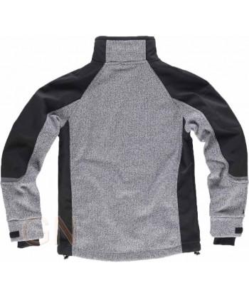 Cazadora softshell con tejido de punto superpuesto gris/negro