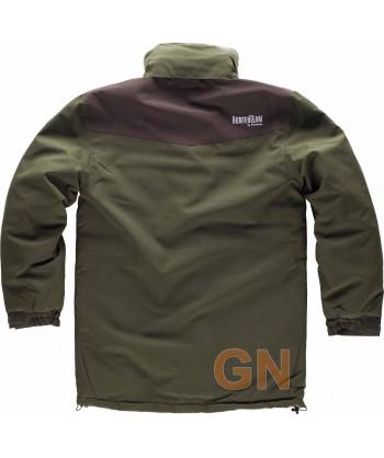 Parka impermeable acolchada especial caza o pesca verde caza/marrón