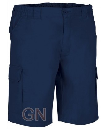pantalón bermuda de tergal multibolsillos marino