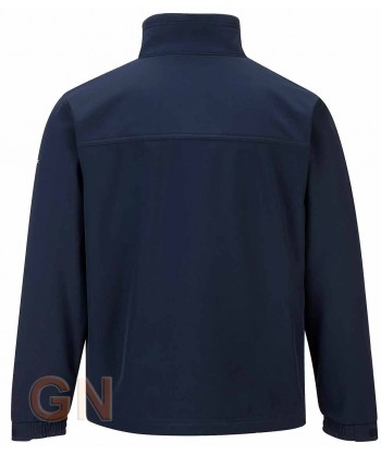 Chaqueta softshell triple capa grandes tallas color marino