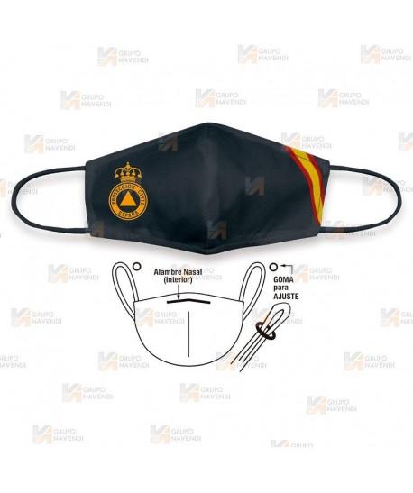 Mascarilla reutilizable para la Protección Civil con logo y bandera