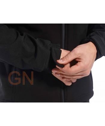 Chaqueta softshell triple capa color negro