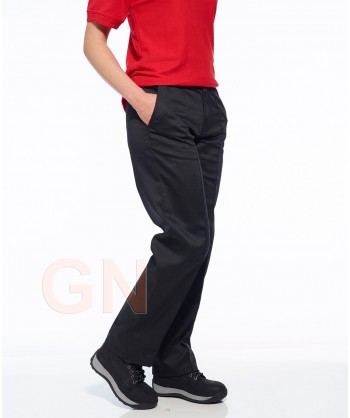 Pantalón elástico para mujer negro