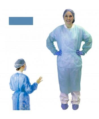 Bata de cirujano económica de polipropileno con cierre trasero