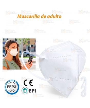 Mascarilla autofiltrante de protección y seguridad FFP2 con 5 capas color blanco