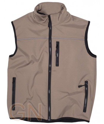 Chaleco softshell color beige