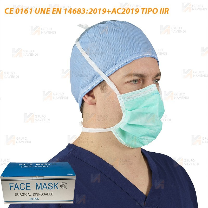 Mascarilla quirúrgica IIR con marcado CE– EN 14683