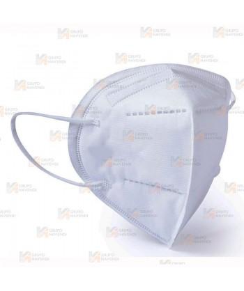 Mascarilla autofiltrante de protección y seguridad FFP2 con 5 capas color blanco. Hecha en España