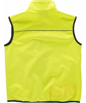 Chaleco softshell amarillo alta visibilidad
