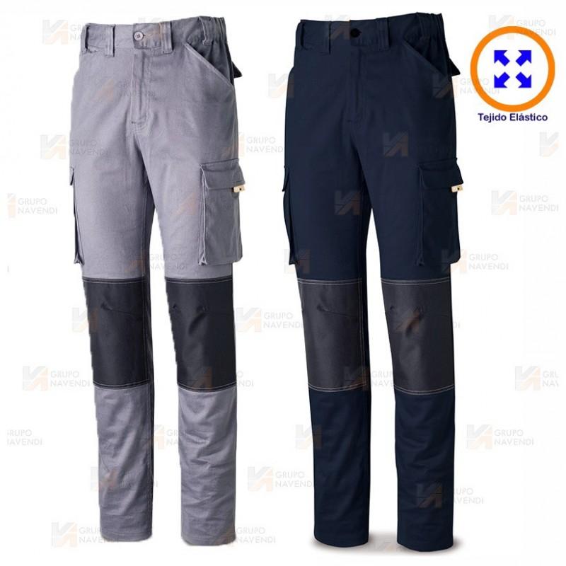 Pantalón elástico Stretch con refuerzos