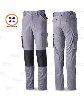 Pantalón elástico Stretch con refuerzos color gris