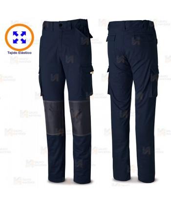 Pantalón elástico Stretch con refuerzos color marino