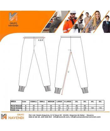 Pantalón interior ignífugo modacrílico, antiestático, anti arco (ARC 1)
