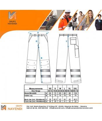 Pantalón bicolor alta visibilidad tejido antimanchas
