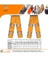 Pantalón monocolor naranja de alta visibilidad