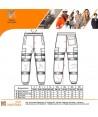 Pantalón deportivo naranja alta visibilidad