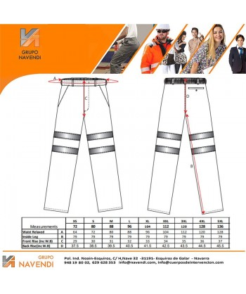 Pantalón monocolor naranja alta visibilidad