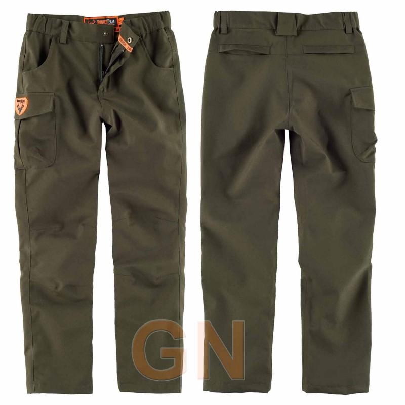 Pantalón impermeable, deportivo para niño. Color verde caza
