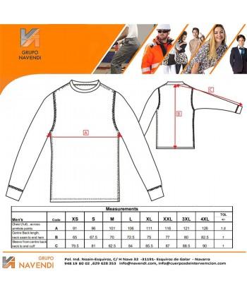 Camiseta térmica de manga larga con tejido transpirable