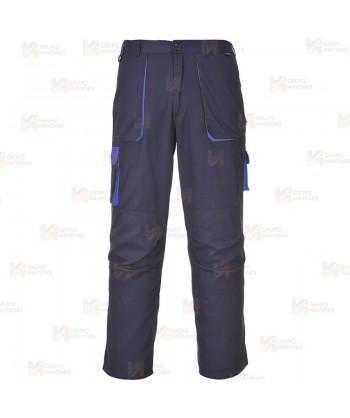 Pantalón combinado multibolsillos color marino/azulina