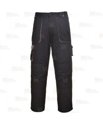 Pantalón combinado multibolsillos color negro/gris