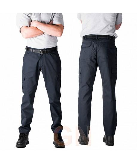Pantalón multibolsillos de corte ajustado SLIM FIT color negro