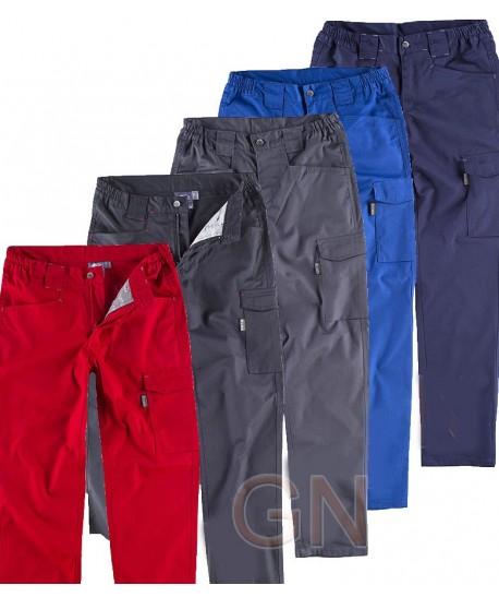 Pantalón bielástico multibolsillos