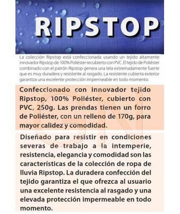 Parka multibolsillos acolchada con tejido Ripstop®