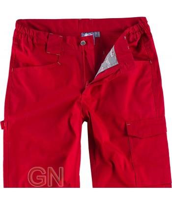 Pantalón bielástico multibolsillos rojo