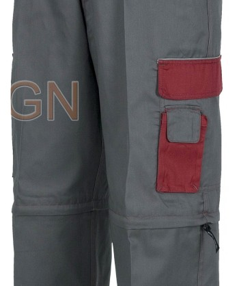 Detalle de los bolsillos y la cremallera para desmontar el pantalón