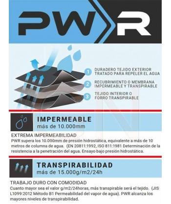 Parka desmontable con membrana impermeable y transpirable