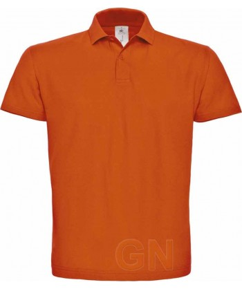 Polo manga corta B&C de algodón color naranja