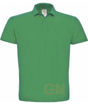 Polo manga corta B&C de algodón color verde kelly