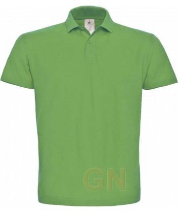 Polo manga corta B&C de algodón color verde