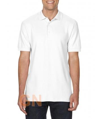 Polo manga corta Gildan de algodón color blanco