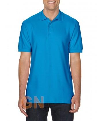 Polo manga corta Gildan de algodón color azul zafiro